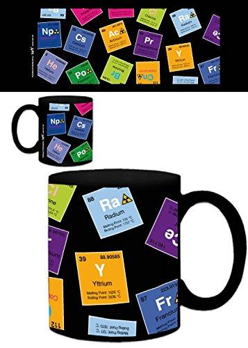 1art1 Periodensystem Der Elemente - Kohlenstoff, Barium, Brom, Radium, In Englisch Foto-Tasse Kaffeetasse 9 x 8 cm
