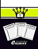 5 Crowns Score Sheet Book: Five Crowns card game - of This 5 Crowns score pad makes |Score Sheet Record with 5 Crowns Guideline , 7 Players - Size 8.5x11' / 100Pages