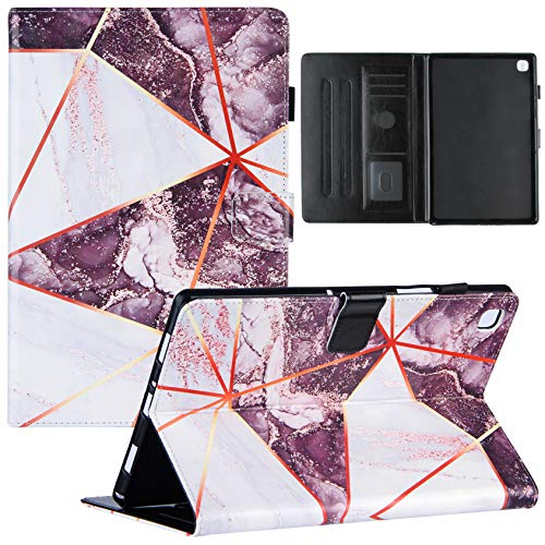 Shinyzone Coque pour Samsung Galaxy Tab A7 10.4 2020 SM-T500/T505 avec Porte-Crayon,Étui Housse en Cuir PU Portefeuille Rabat Smart avec Support de Multi-Angle,Fonction Sommeil/Réveil,Noir