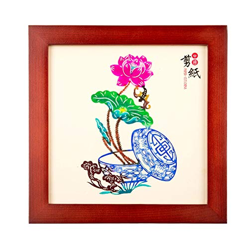Auspicious Flowers /& Birds Shayier China s Intangible Cultural Heritage Chinese Handmade Paper-Cut