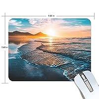 マウスパッド かわいい 日落ち 海 波 高級 ノート パソコン マウス パッド 柔らかい ゲーミング よく 滑る 便利 静音 携帯 手首 楽