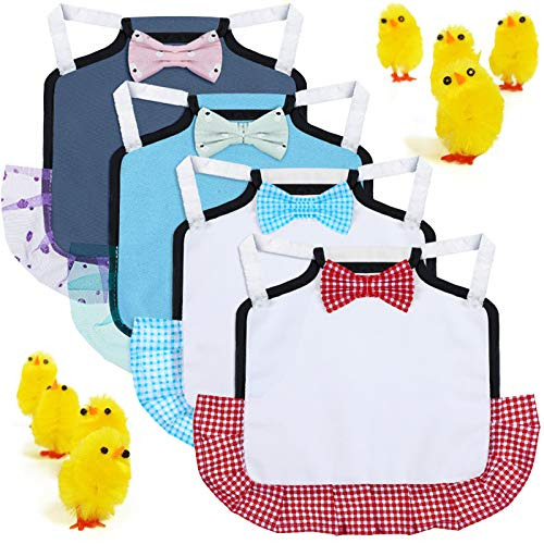 4 Pieces Chicken Saddle Hen Apron with Elastic Straps Chicken Jacket Chicken Saddle Protection Poultry Protector Apron Supplies for Small, Medium and Large Hens