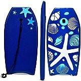 COSTWAY Bodyboard, Schwimmbrett Schwimmboard, Surfbrett Kinder, Surfboard, Sup-Board 104x52x6cm (dunkelblau)