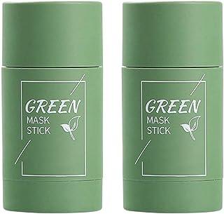 Diepe reiniging maskm, Groene thee crème, 2 stks Groene Thee Zuiverende Klei Stok Masker Olie Controle Effen Masker Diepe ...