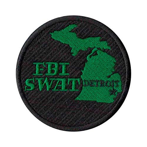 Patch Bordado - Policia Federal Fbi Swat Detroit PL60170-319 Termocolante Para Aplicar