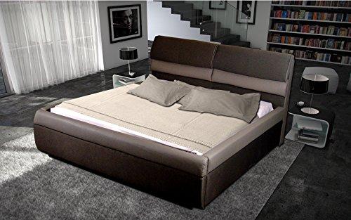 Designer Luxus Braun Mokka Wasserbett 180 x 200 cm Mono Designerbett Softside Komplett Set