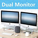 FITUEYES Computer Monitor Riser Stand with Height Adjustable Desktop for Laptop Dual Monitors Xbox...