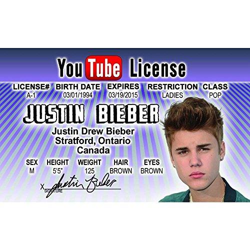 Cartello 4 Fun Nroidjb Justin Bieber patente