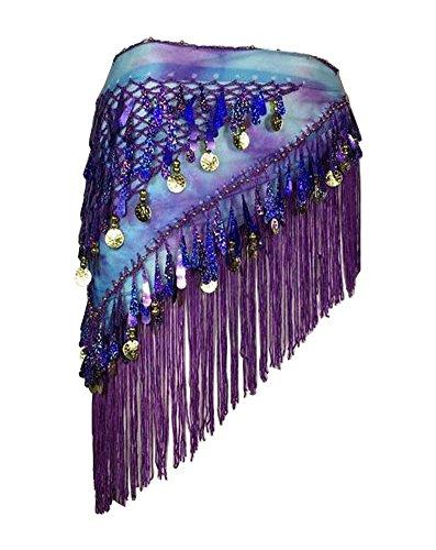 BLANCHO BEDDING [Violet] Ceinture stylée de Danse du Ventre Belly Dance Waist Chain Hip Scarf #01