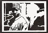 Lupin Póster Assane Diop Omar Sy Grafiti Hecho a Mano Sreet Art - Aesthetic Artwork
