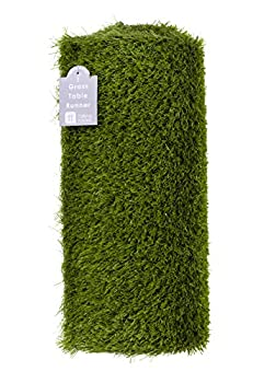 Talking Tables Indoor Reusable Fake Artificial Grass Table Runner-1.5m Indoor & Outdoor Use-Easter Decorations Superbowl Moss for Fairy Garden Minecraft Party Soccer