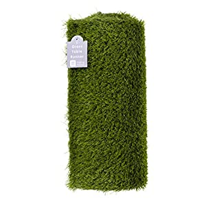 Talking Tables Indoor Reusable Fake Artificial Grass Table Runner-1.5m Indoor & Outdoor Use-Easter Decorations, Superbowl, Moss for Fairy Garden, Minecraft Party, Soccer