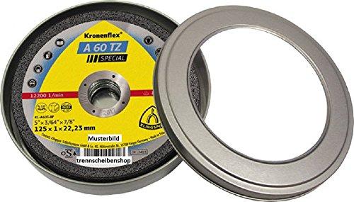 KLINGSPOR KLI-310504-1 310504 A 60 TZ Trennscheiben 125 x 1 x 22,23 mm gerade Inhalt: 1 Stück