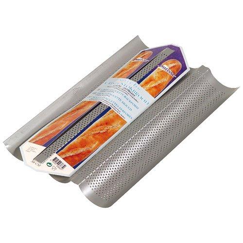 Patisse - Plaque de cuisson pour baguette - Argent - 38 x 24 cm