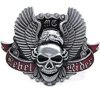 Rider Vintage Motorhead Skull Head Machine Motorcycle Biker Lot Leather Belt Buckle