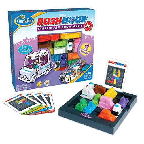 ThinkFun Rush Hour Junior Traffic Jam Logic Game and STEM Toy for Boys and Girls Age 5 and Up  Junior Version of the International Bestseller Rush Hour