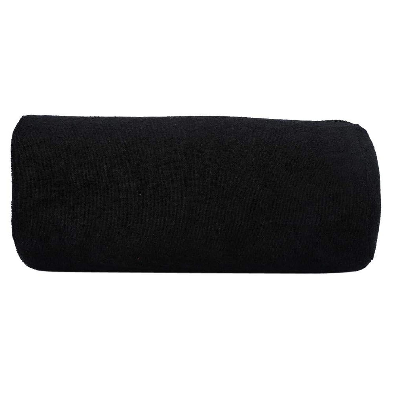 ポータブル粘り強い錫サロンハンドレストクッション、ネイルアートソフトピロー(ブラック)