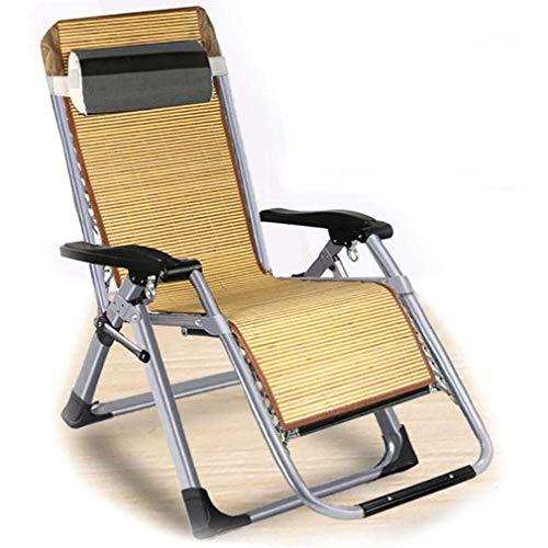 WZDD Liegestuhl Garten 150 Kg, Sonnenliege Klappbar Klappliegestuhl Relaxliege Ergonomischer Design-Loungesessel Mit Abnehmbaren Kissen - Für Camping Freizeit Strand