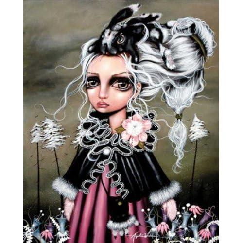 FANTASY ART PRINT Bunny Couture Angelina Wrona 16.5x36