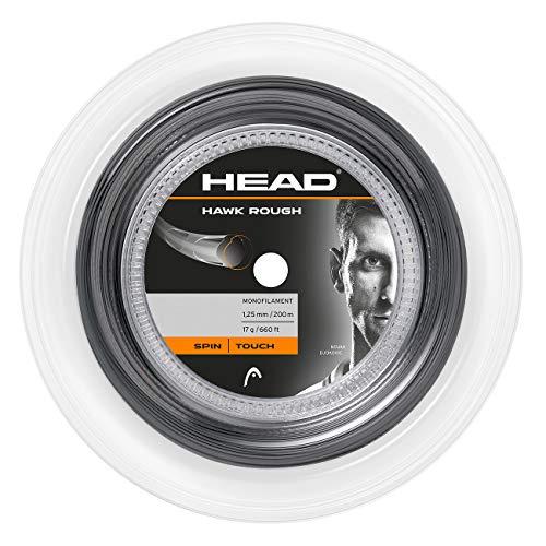 Head Hawk Rough Rolle 120 Cuerda de Tenis, Unisex Adulto, Antracita, 17
