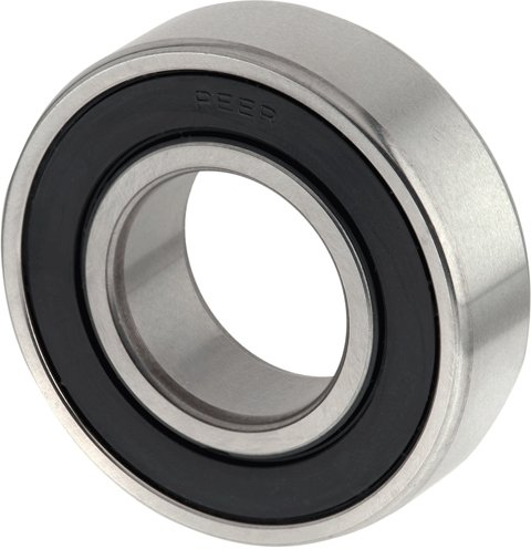 PEER Bearing 6203-RLD-C3 - Radial/Deep Groove Ball Bearing - Round Bore, 17 mm ID, 40 mm OD, 120 mm Width, One Nitrile Contact Seal, Pack of 15