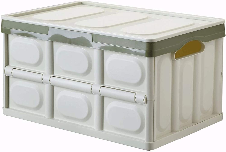 Multifunctional Plastic Folding Box Large Covered Car Folding Storage Box Folding Box Car (color   Green, Size   43×30×23cm)