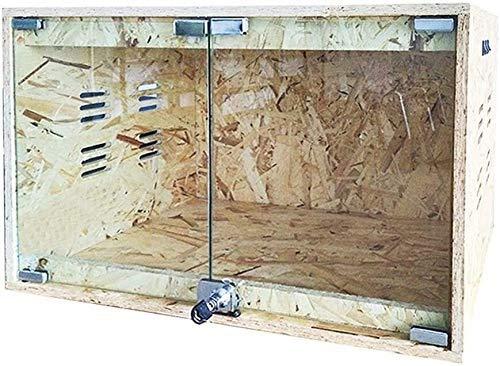 aipipl Aquarium Dekoration Reptilienzucht Box Reptilien Habitat Tank Fütterung Uhr Transport Box- Lizard Spider Box