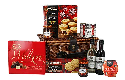 Traditional Christmas Wicker Hamper with Festive...