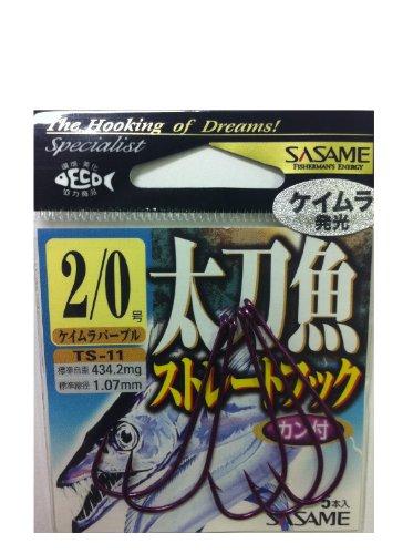 ささめ針(SASAME) TS-11太刀魚ストレート ケイムラパープル 2/0