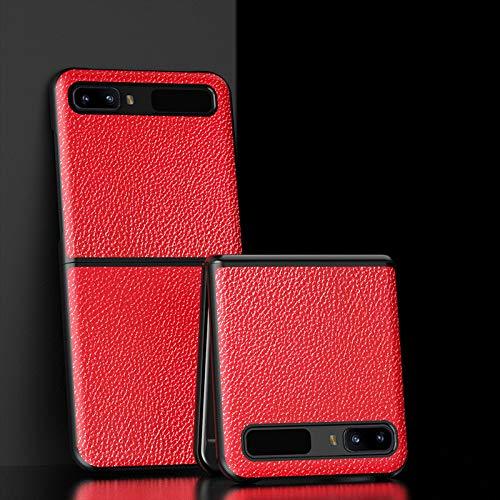 Hülle® Texturas Cuero Funda Plegable Anti Vibración y Anti Caída,Agarre Cómodo Carcasa de Protección Completa Compatible para Samsung Galaxy Z Flip 5G/Samsung Galaxy Z Flip (8)