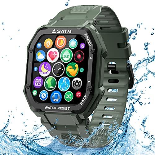 """EPILUM Smartwatch, 1.69"""" Orologio Fitness Uomo Donna Impermeabil, GPS Orologio Contapassi con Saturimetro, BP, Cardiofrequenzimetro, Activity Tracker, 20 Modalità Sport, Orologio sportivo all'aperto"""