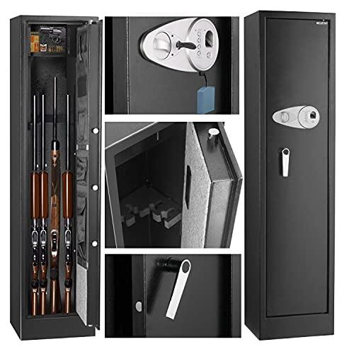 Gun safe for rifles and pistols fingerprint quick access,...