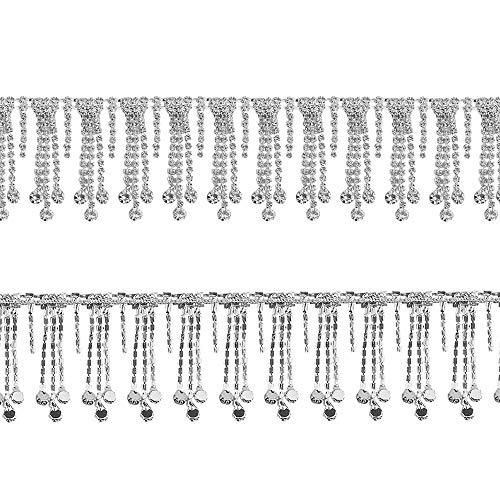 BGTXINGI Kristall-Strasskette, Diamantquaste, geschlossene Trimmung, Schweißen Krallenkette, Strang, verzierte Kette für Bastelprojekte, Geburtstagsdekorationen & Kunstmöbel, Kopfteil,