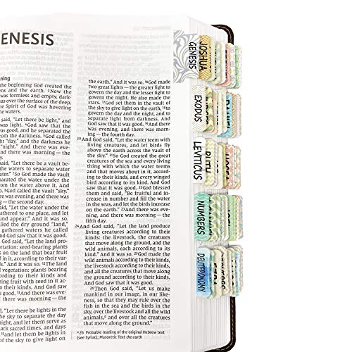 Mr. Pen- Bible Tabs, 75 Tabs, Laminated, Bible Journaling Supplies, Bible Tabs Old and New Testament, Bible Tabs for Women, Bible Tabs for Journaling Bible, Bible Book Tabs