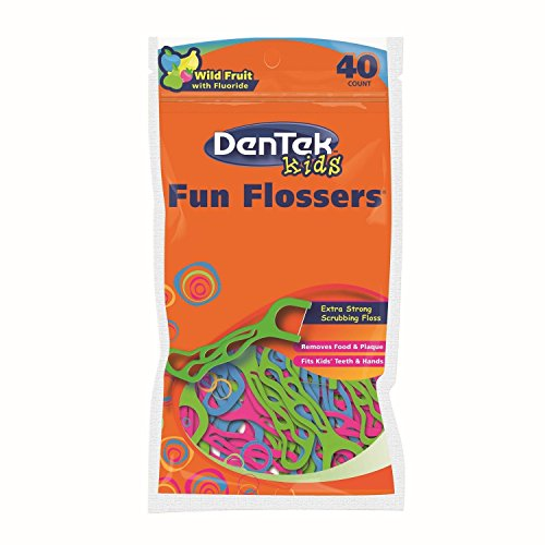Dentek Childrens Fun Flosser - 1 Pack of 40