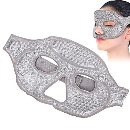 Gel-Perlen-Augenmaske, Heißer Kältetherapie-Gesichts-Augenschutz Wiederverwendbare Kühlende Halbe Gesichts-Augenabdeckung, Kühlende Augenmaske Zur Stresslinderung, Reduziert Müde Augen, Augenringe, Tr
