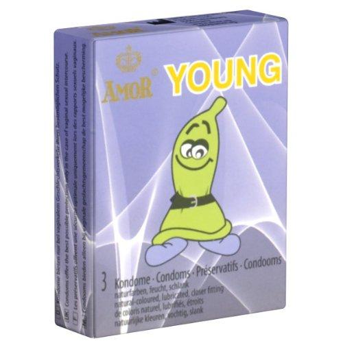 Amor Young, das Jugendkondom, schlanke Kondome (49mm Breite) 1 x 3 Stück