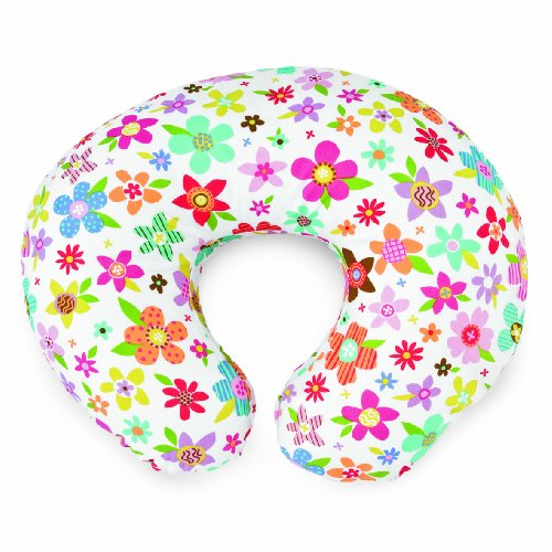 Chicco Boppy Housse Coton / Polyester pour Coussin 2 Coloris Recto verso Collage Flowers