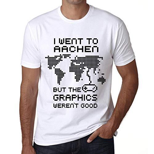 Herren Tee Männer Vintage T-Shirt I Went to Aachen Weiß