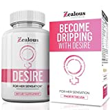 Desire Female Enhancement Pills – 5X Natural Mood Booster for Women - Increase Energy, Vitality, Reduce Dryness,...