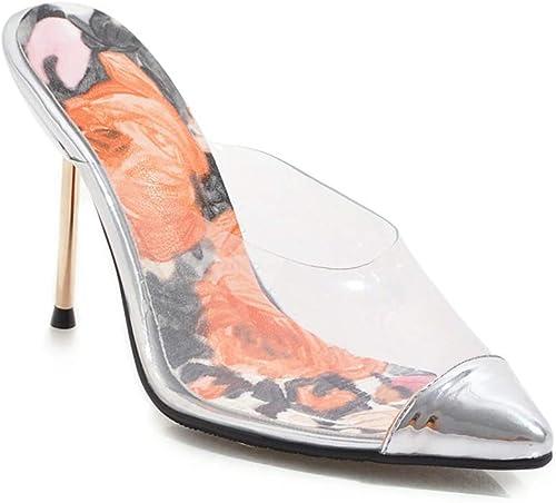 femmeschaussures Chaussures pour Femmes, Chaussures Pointues, Sandales à Talon Haut Transparent et Talon Haut Transparent, Femmes,A,39