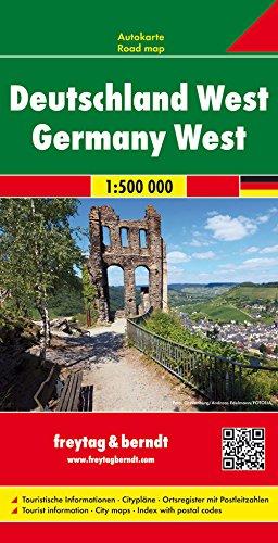 Deutschland West, Autokarte 1:500.000 (freytag & berndt Auto + Freizeitkarten)