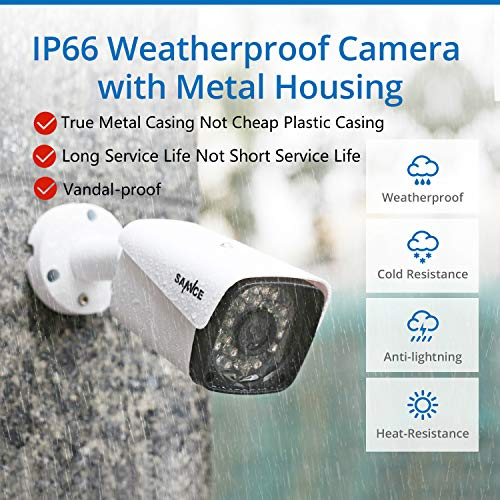 SANNCE 1080P POE Security Camera System with 1TB Hard Drive,4 Pcs 1920TVL Outdoor/Indoor CCTV Cameras, Easy Installation, Real Plug & Play XPOE Network Video Surveillance System