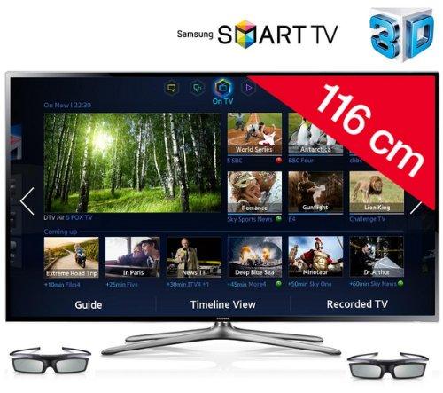 SAMSUNG Televisor LED 3D Smart TV UE46F6400 + Barra de sonido HW ...