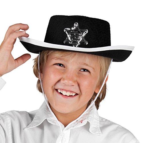 Boland 04030 - Hut für Kinder Sheriff Schwarz, Sortiert