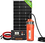 ECO-WORTHY Solar Well Pump Kit - 100W Solar Panel with 12V Deep Well Water Pump for Off-grid Living or Irrigation, Farm & Ranch-DELIVERY IN 2 PARCELS