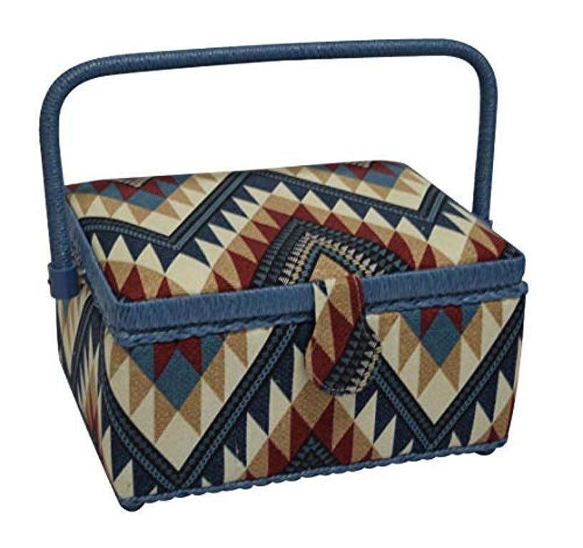 Ethnic Parera Box, Organizer, Sewing Machine, Blue, One Size