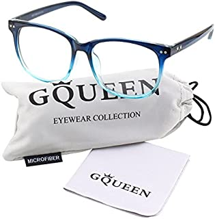 GQUEEN 201581 Large Oversized Frame Horn Rimmed Clear...