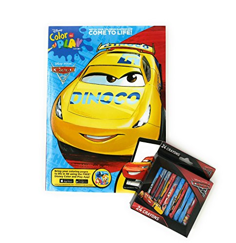 Cars 3 Coloring Book Disney with Crayons