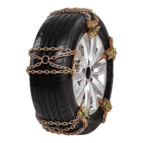 Snow Chains 6Pcs Anti-Skid Snow Chains,Car Snow Chains Anti-skid Chains Car Truck SUV In Winter Driving,Snow Road,Car Anti Slip Tire Chains Adjustable Anti-Skid Chains Fits For Tyres Width 165-285mm